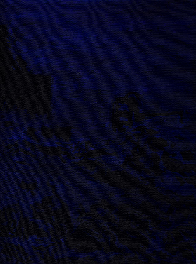 Monochromatic Painting - Bluescape by Cathal Lindsay