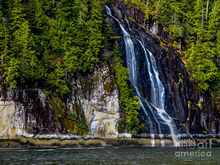 Waterfall Photograph - Bluish by Robert Bales