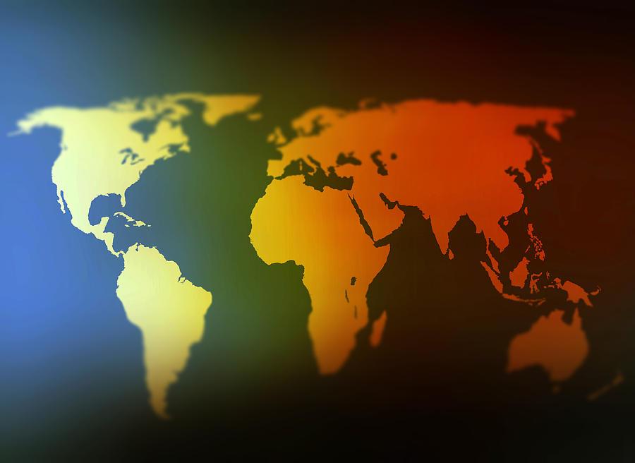 Blur world map digital art by steve ball world digital art blur world map by steve ball gumiabroncs Gallery