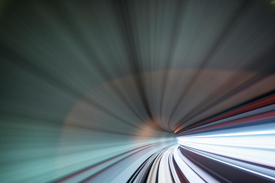 Blurred View Of Subway Tunnel, Malaysia Photograph by Paul Souders