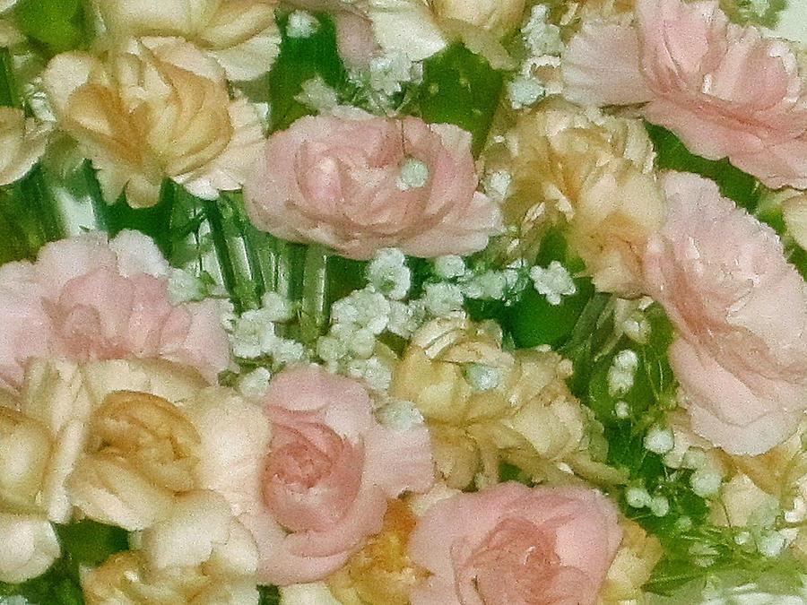 Flesh Tones Digital Art - Blush Beige Floral by Good Taste Art