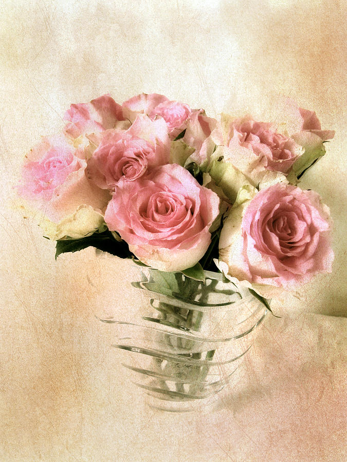 Bouquet Photograph - Blush Rose by Jessica Jenney