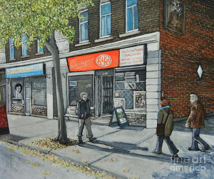 Streets Of Montreal Painting - Blvd Monk Ville Emard by Reb Frost