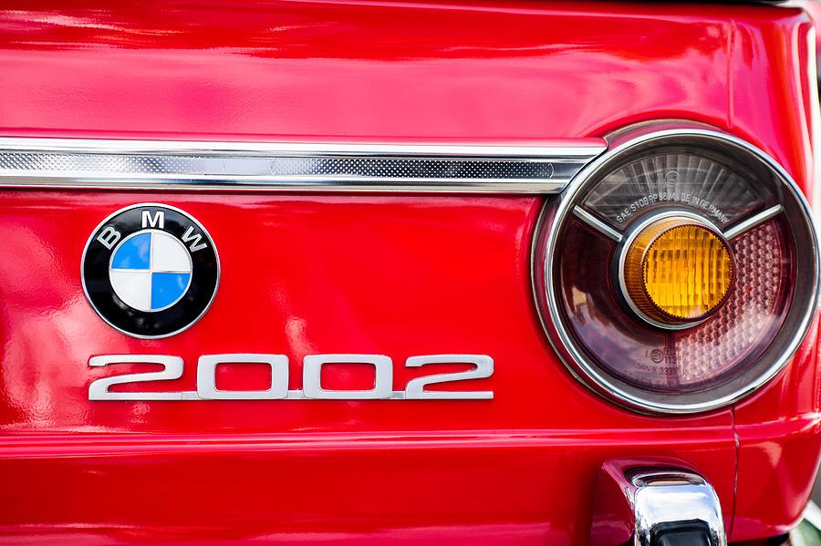 Classic Cars Photograph - Bmw 2002 Taillight Emblem by Jill Reger