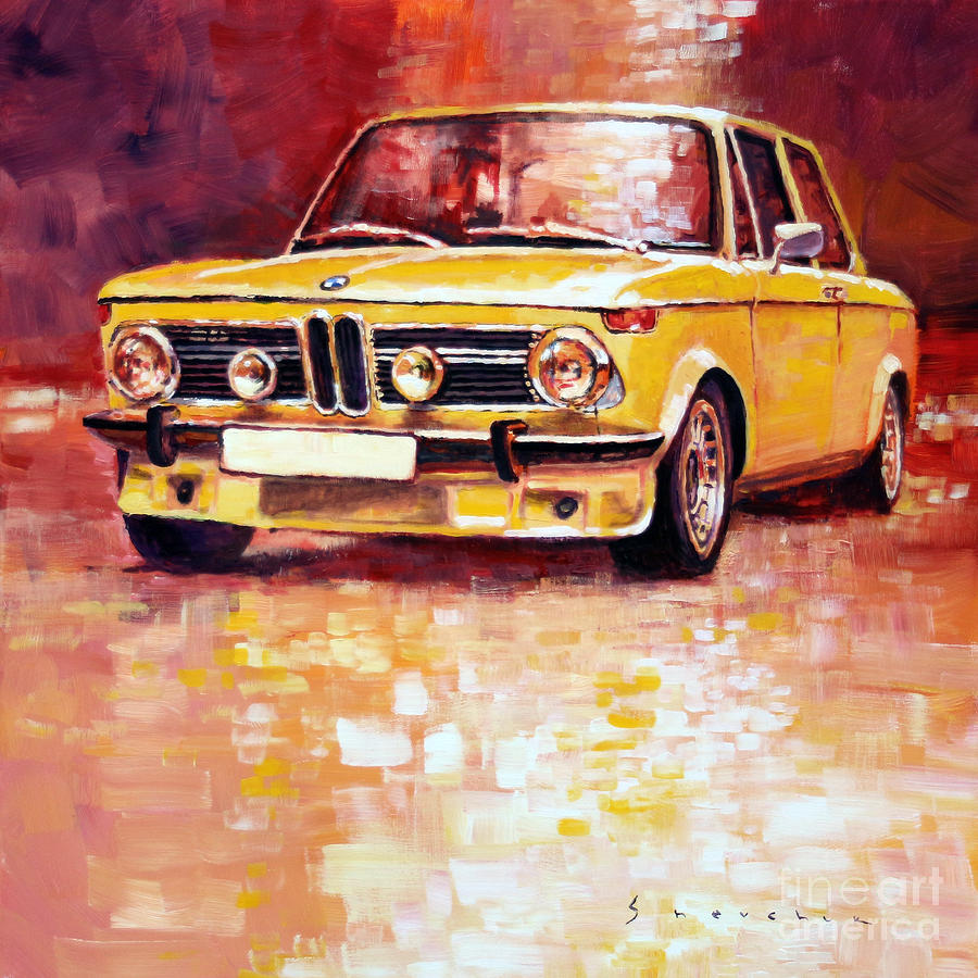 Acrilic painting bmw 2002 turbo by yuriy shevchuk