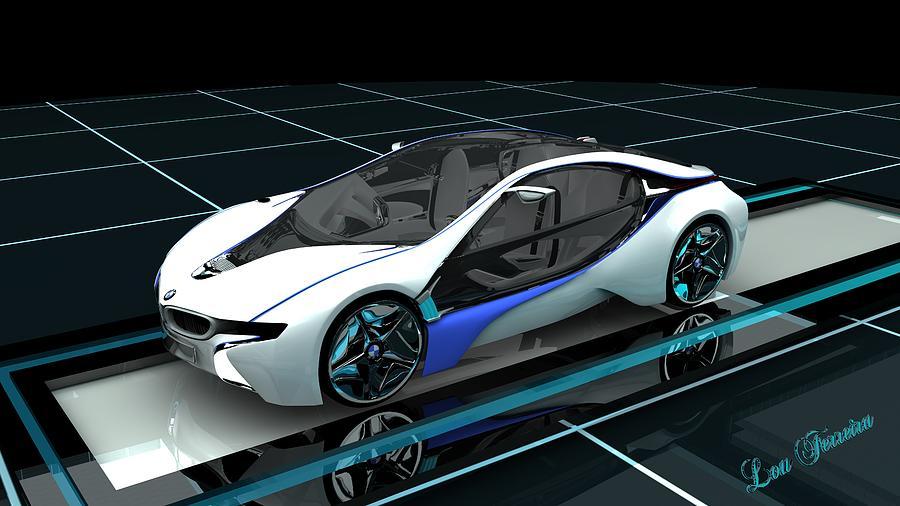 bmw concept car digital art by louis ferreira