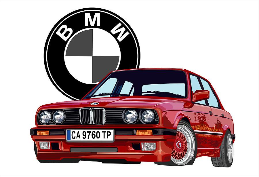 BMW Digital Art by DARRYL McPHERSON