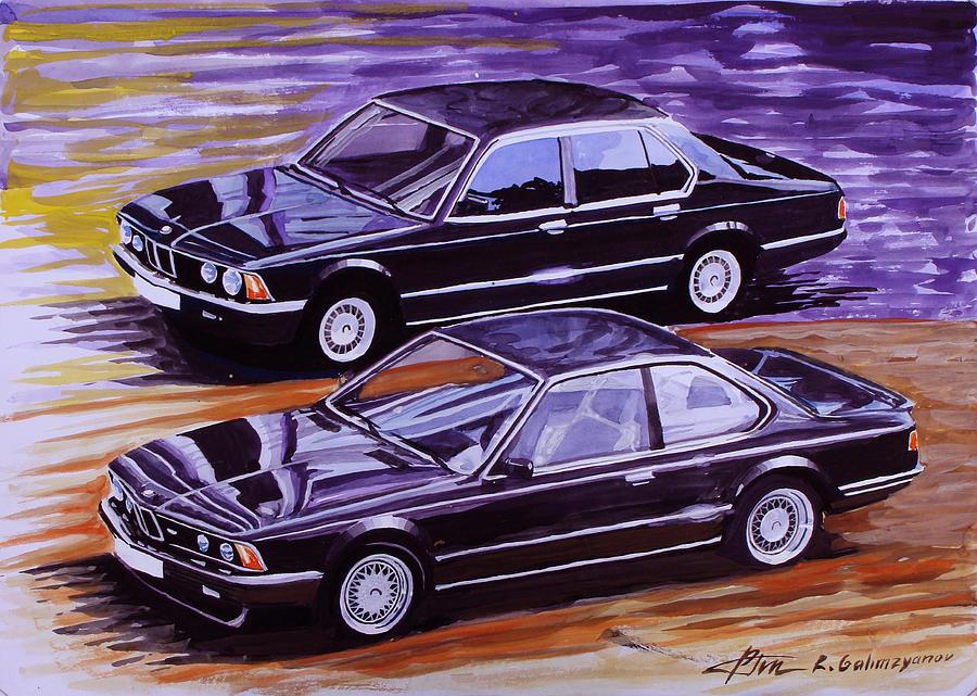 Bmw E23 And E24 Painting By Ildus Galimzyanov