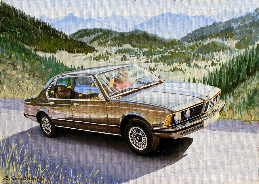Bmw E23 Painting By Rimzil Galimzyanov