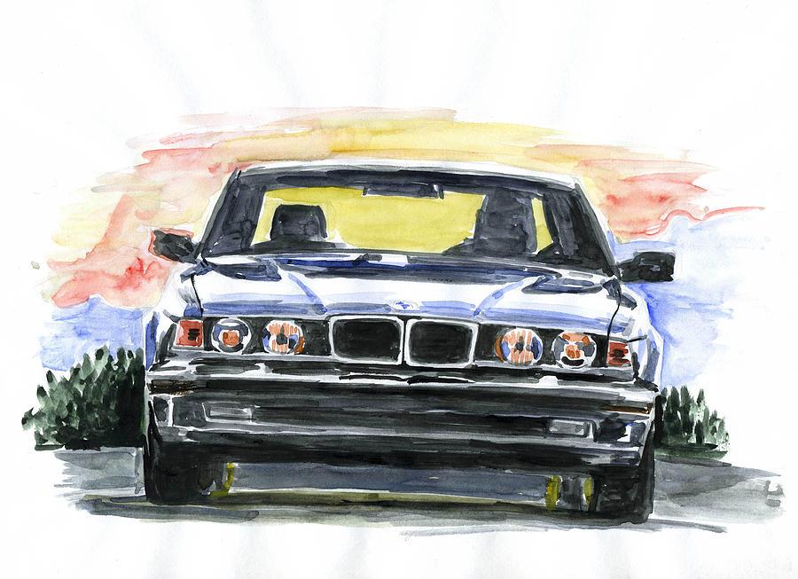 Auto Painting - Bmw E32 by Ildus Galimzyanov