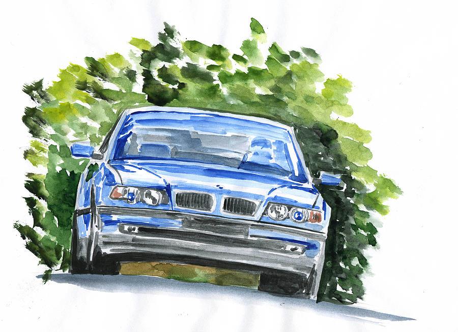 Auto Painting - Bmw E38 by Ildus Galimzyanov
