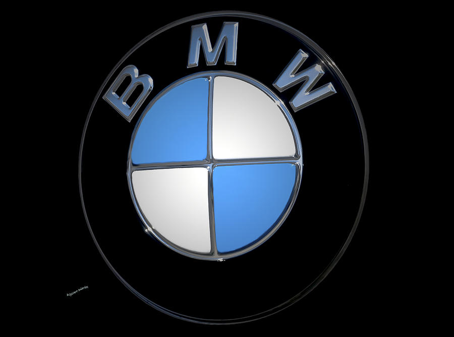 Bmw Photograph - Bmw Emblem by DigiArt Diaries by Vicky B Fuller