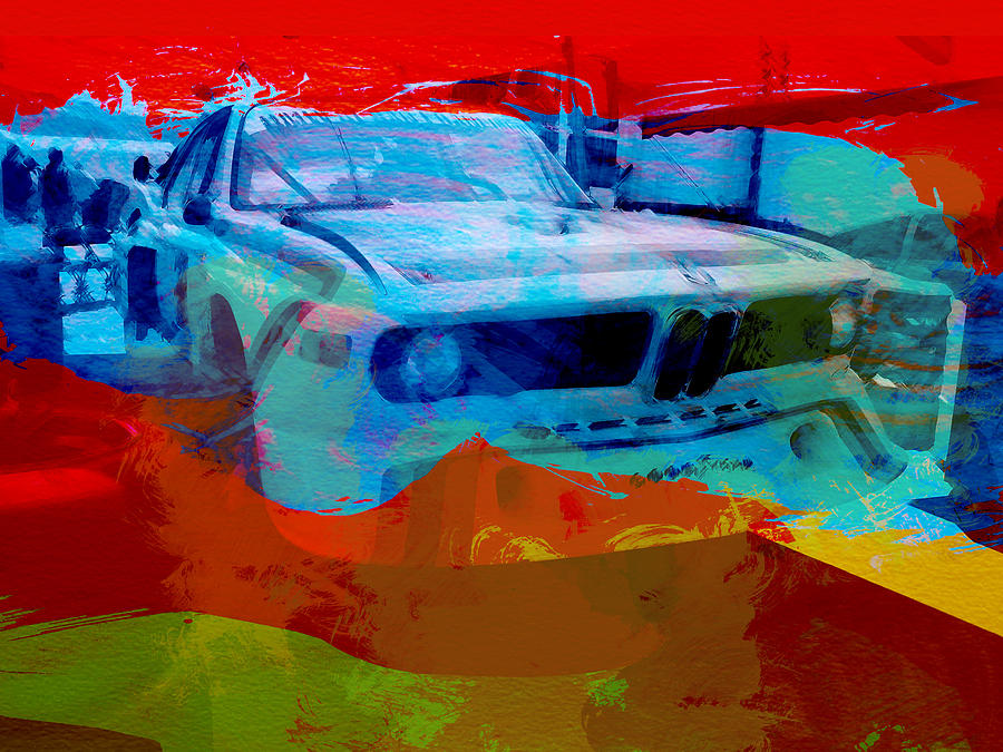 Vintage Car Photograph - Bmw Laguna Seca by Naxart Studio