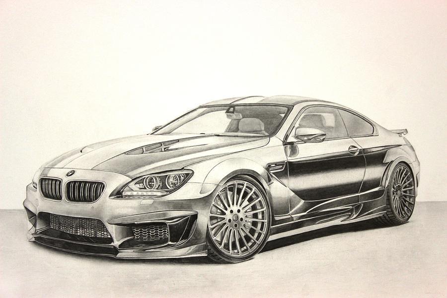 Bmw M6 Drawing By Skincandy Nine