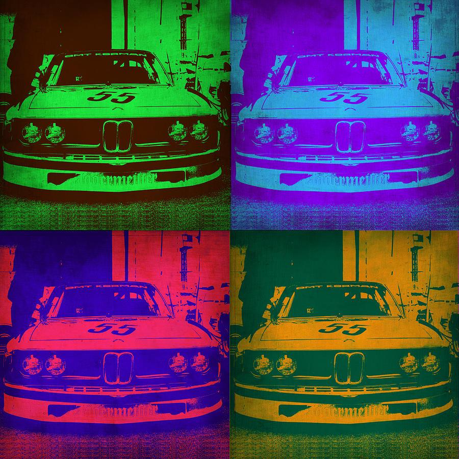 Bmw Painting - Bmw Racing Pop Art 1 by Naxart Studio