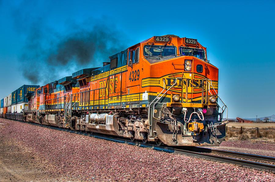 Bnsf Photograph - Bnsf 4329 by Jim Thompson