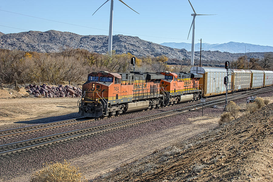 Bnsf Photograph - Bnsf 7454 by Jim Thompson