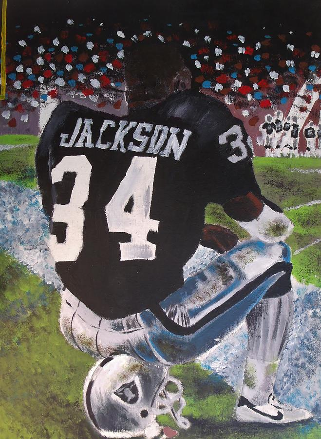 Bo Jackson Ii Painting By Jeremy Moore