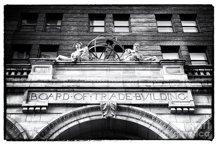 Board Of Trade Photograph - Board Of Trade Building by John Rizzuto