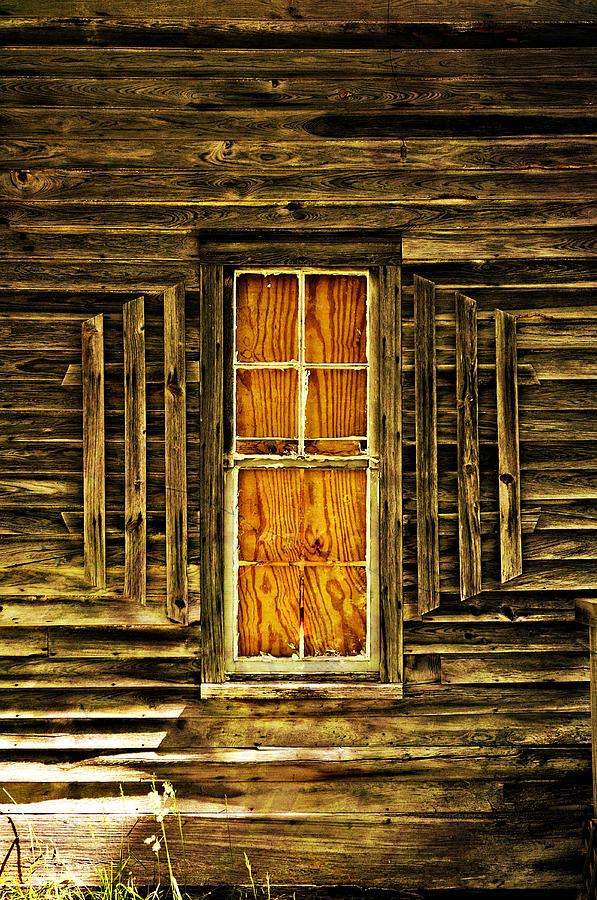 Window Photograph - Boarded Window by Marty Koch