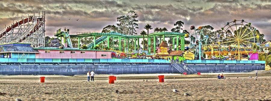 Panorama Photograph - Sand And Amusement by SC Heffner