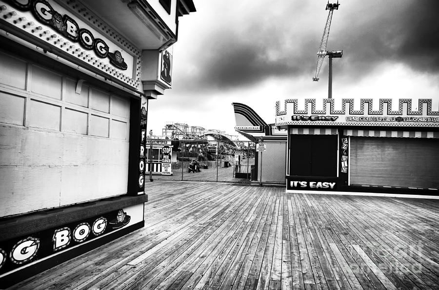 Clouds Photograph - Boardwalk Angles by John Rizzuto