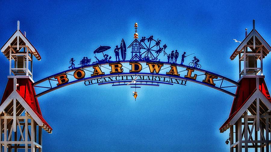 Ocean City Photograph - Boardwalk Arch In Ocean City by Bill Swartwout Photography