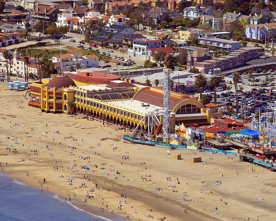Santa Cruz Photograph - Boardwalk Beach by Neal Martin