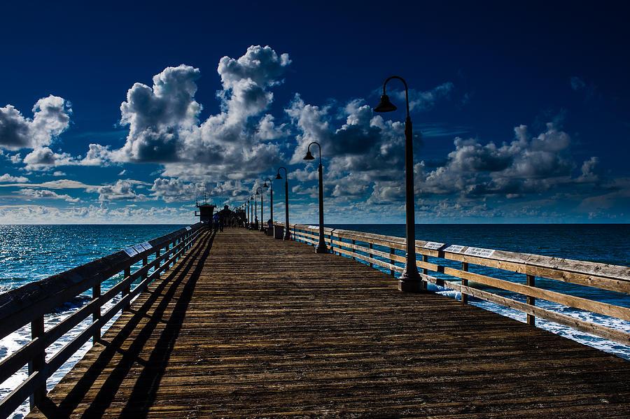 Boardwalk Photograph - Boardwalk Blues  by Cecil K Brissette