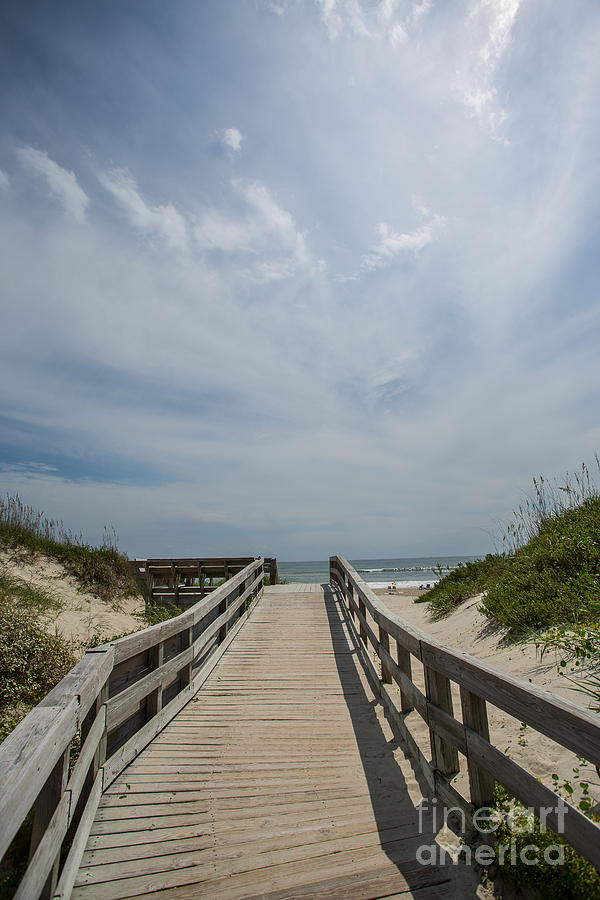 Ocracoke Photograph - Boardwalk To The Beach by Kay Pickens