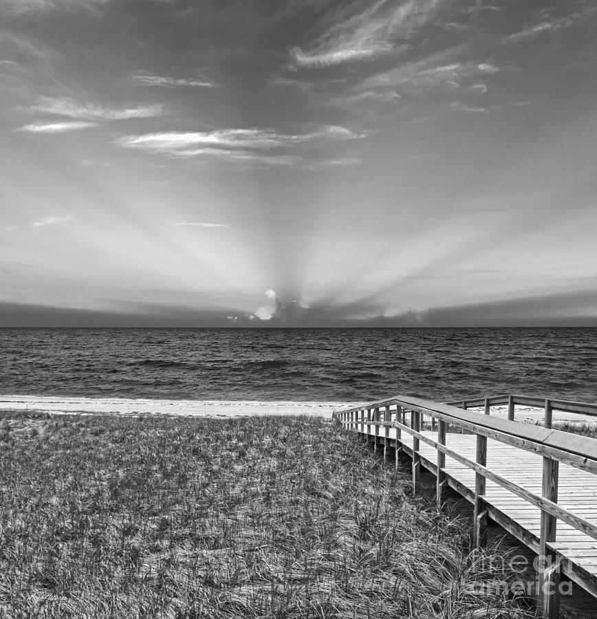 Boardwalk To The Sea Photograph - Boardwalk To The Sea by Michelle Wiarda