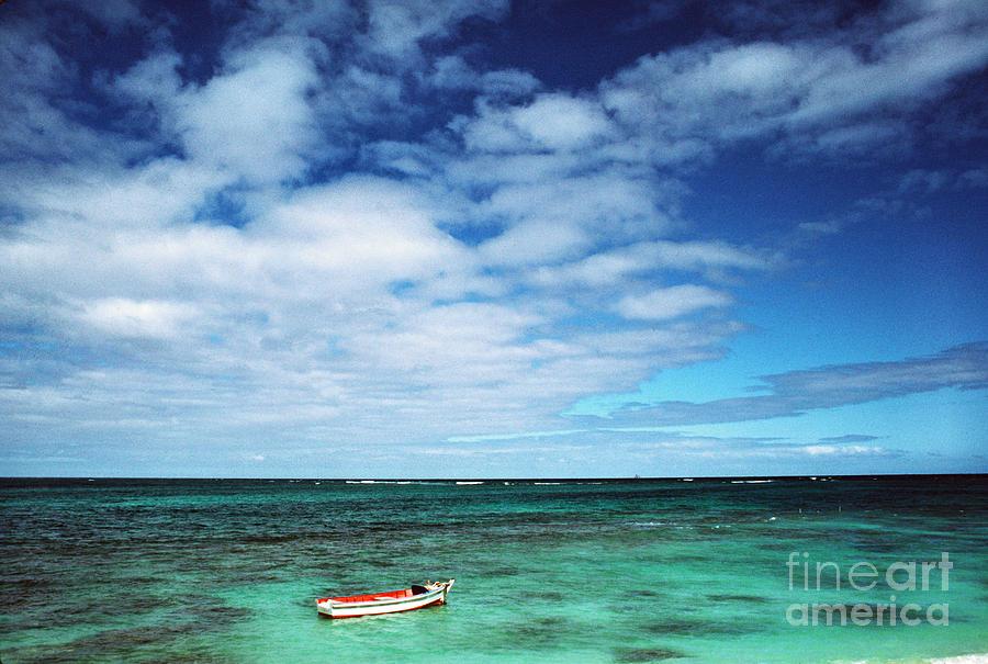 Hawaii Photograph - Boat And Sea by Thomas R Fletcher