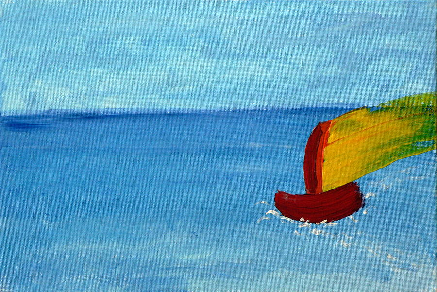 Boat Painting - Boat by Anna Mihaylova