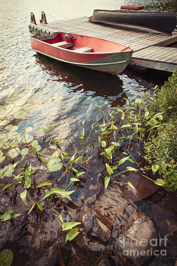 Boat Photograph - Boat At Dock  by Elena Elisseeva