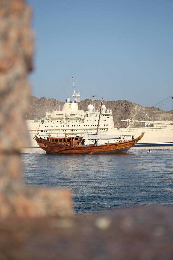 Boat At Mutrah - Oman Digital Art by Ibrahim Albalushi