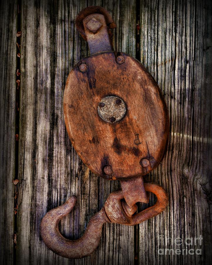 Paul Ward Photograph - Boat - Block And Tackle by Paul Ward