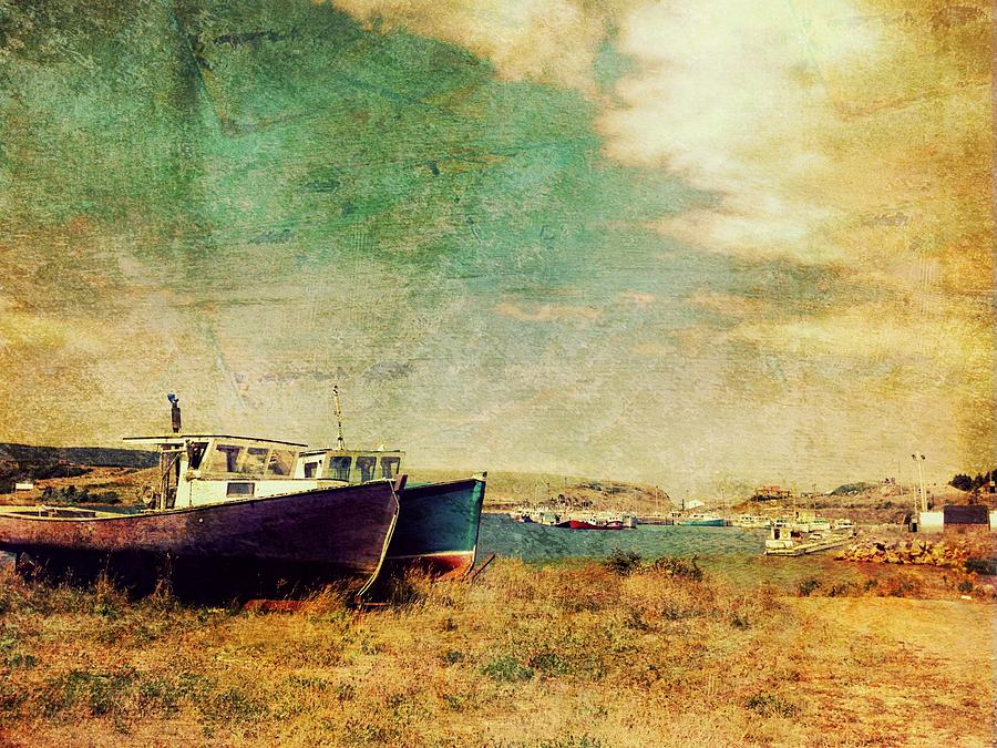 Grunge Photograph - Boat Dreams On A Hill by Tracy Munson