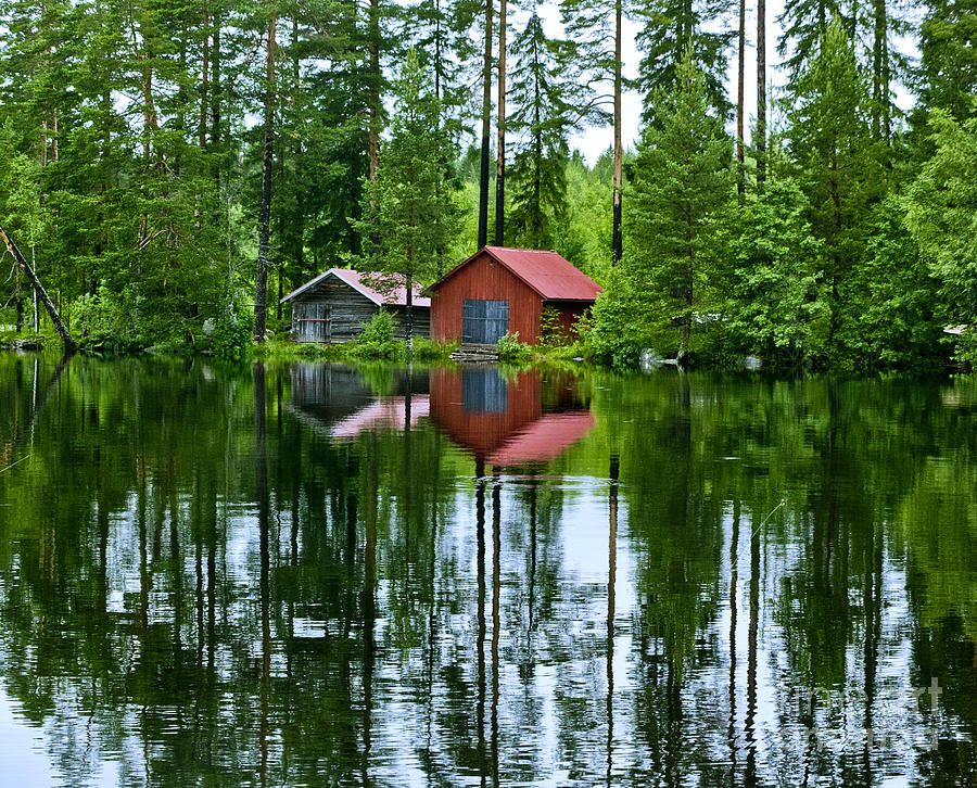 Boat House On Swedish Lake Photograph By Micah May