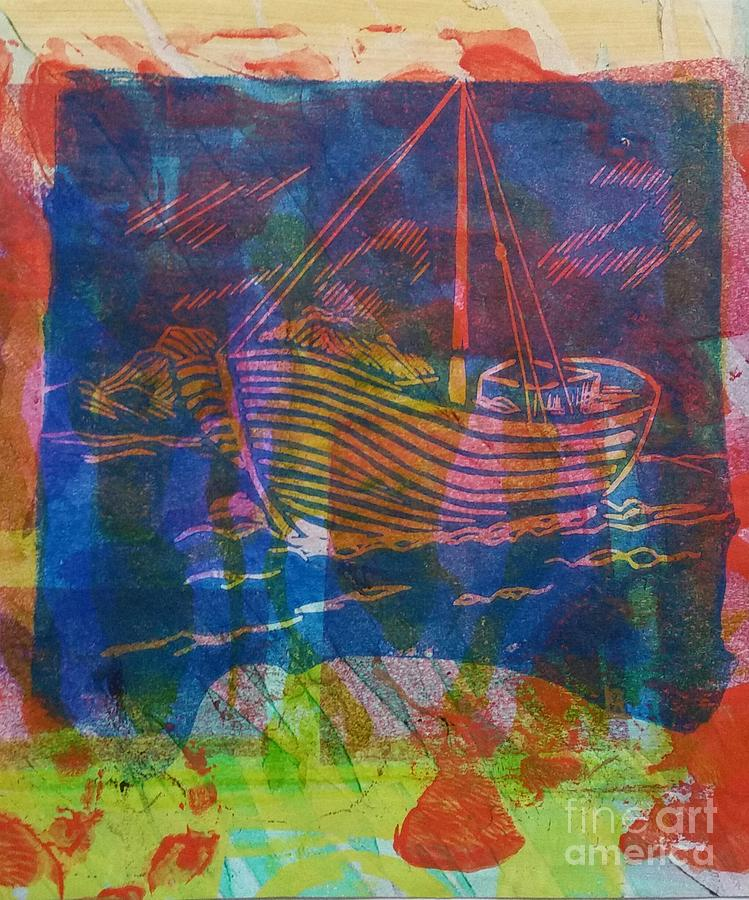 Boat in Blue by Cynthia Lagoudakis