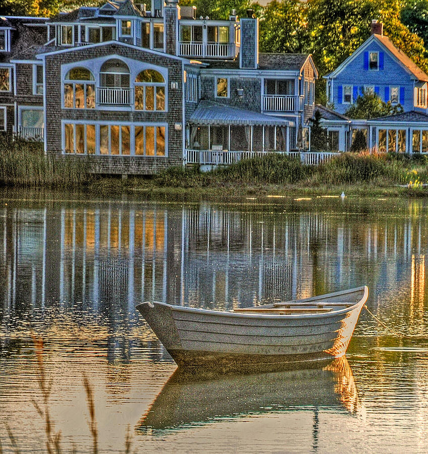 Blue Photograph - Boat In Late Afternoon by Phyllis Meinke