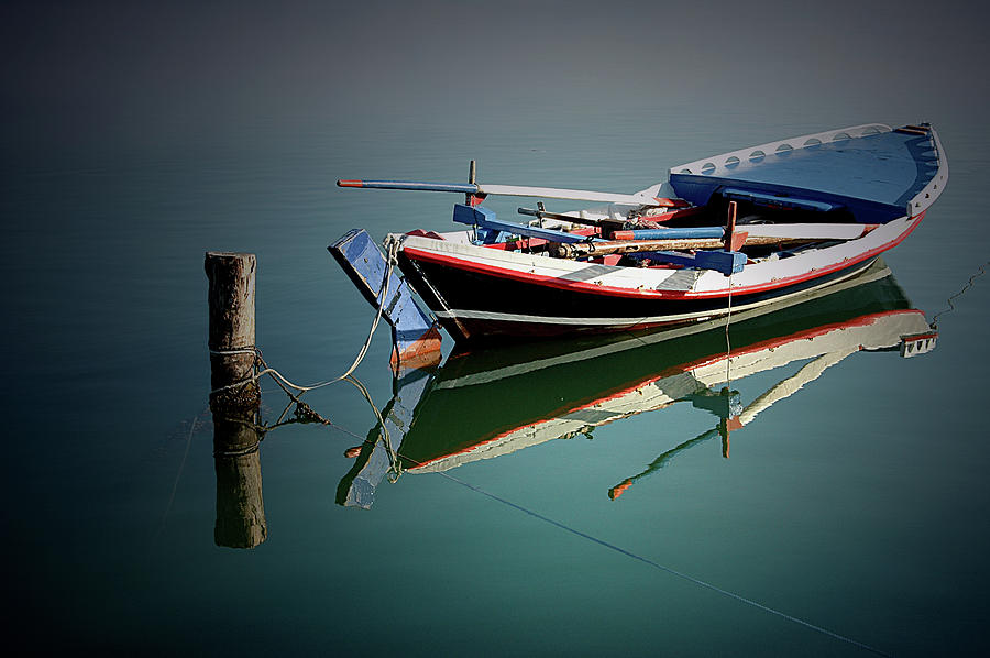 Boat In Lefkada Greece - Ionion Sea - Photograph by ©  Karolos  Trivizas