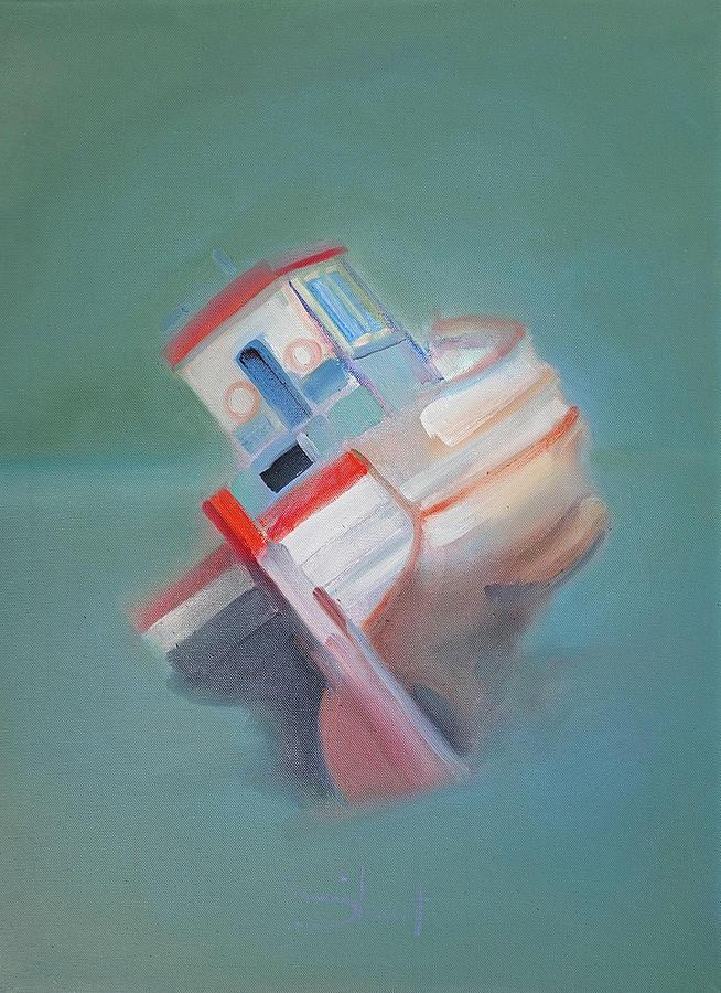 Fishing Boat Painting - Boat Retired  Tavira by Charles Stuart