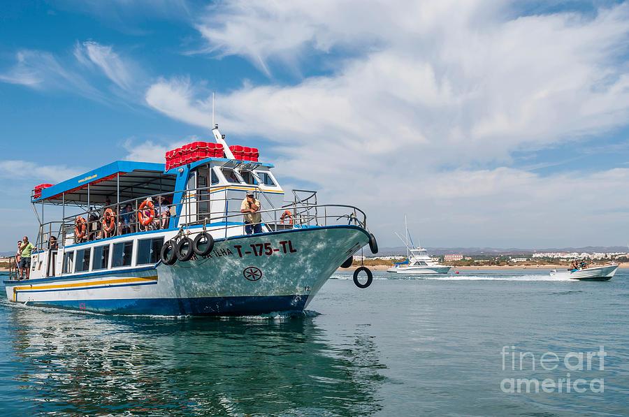 Tavira Photograph - Boat To Tavira Island by Luis Alvarenga