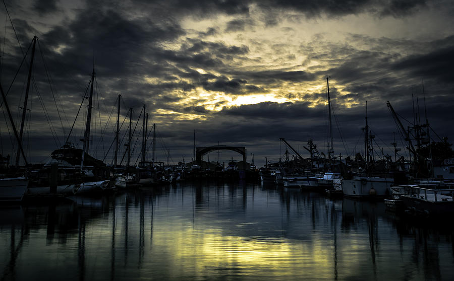 Sunset Photograph - Boat Yard by Blanca Braun