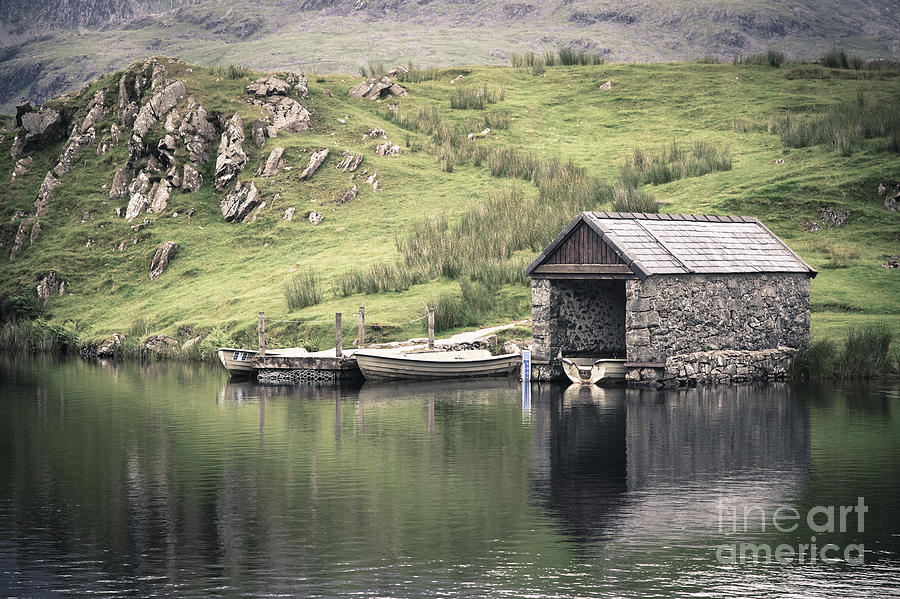 Boat Photograph - Boathouse by Jane Rix