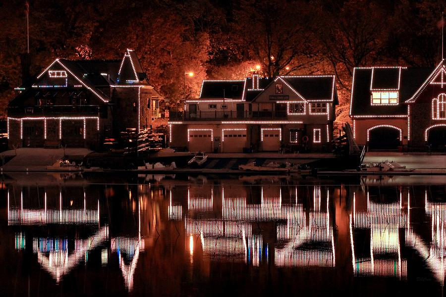 Boathouse Photograph - Boathouse Row Reflection by Deborah  Crew-Johnson