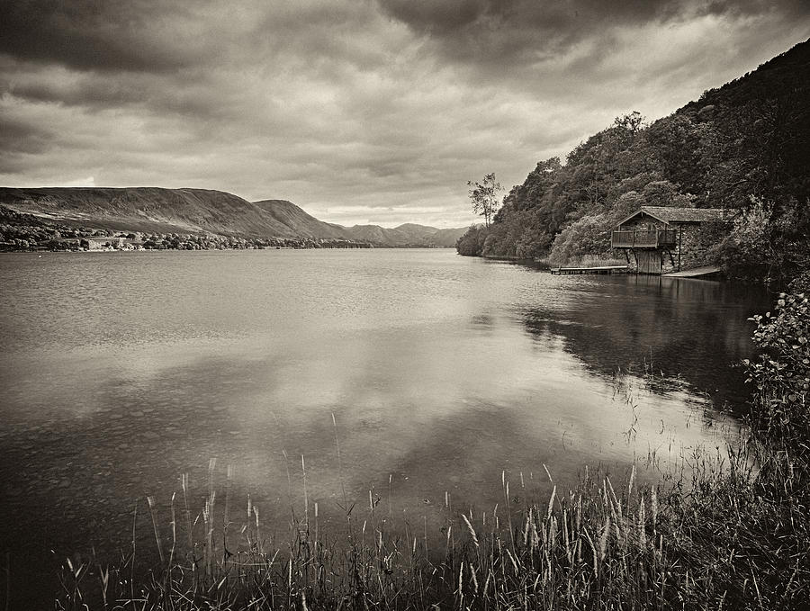 Reflection Photograph - Boathouse Ullswater by Graham Moore