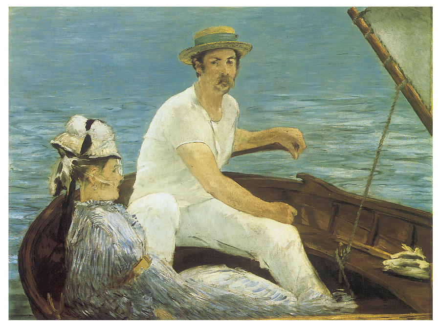Manet Painting - Boating by Edouard Manet
