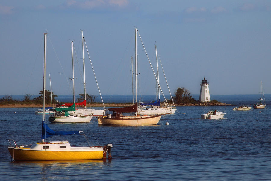 Captains Cove Photograph - Boating On Long Island Sound by Joann Vitali