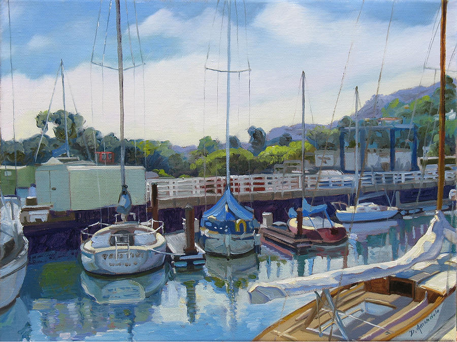 Boats Painting - Boats And Yachts by Dominique Amendola